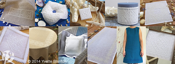 All eleven projects from Sardinian Knotted Embroidery