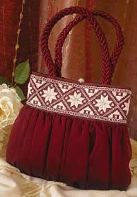 hardanger bag with chiffon overlay