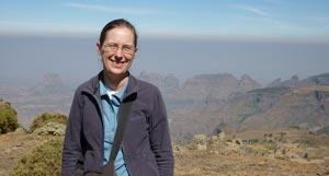 Yvette in Simien Mountains, Ethiopia