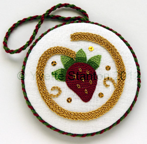 Elizabethan strawberry roundel by Yvette Stanton