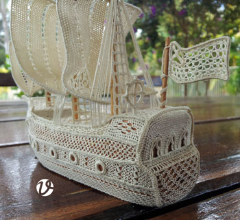 Robyne Bunter's needlelace ship