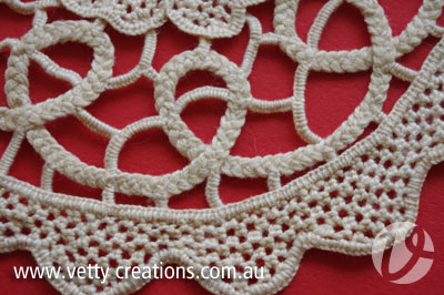 Needlelace doily