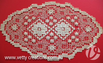 filet lace doily