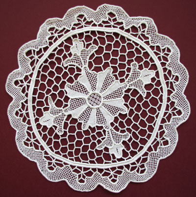 whitework needlelace doily