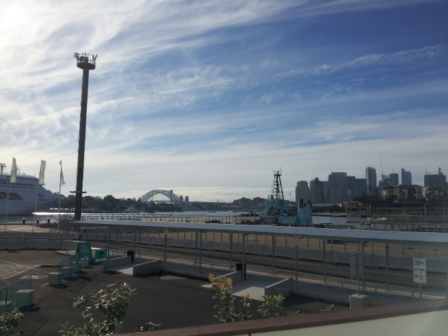 Sydney Harbour from the entry to the exhibition halls