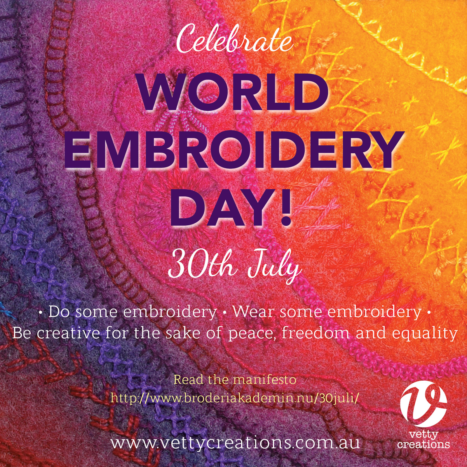 Celebrate World Embroidery Day 30th July