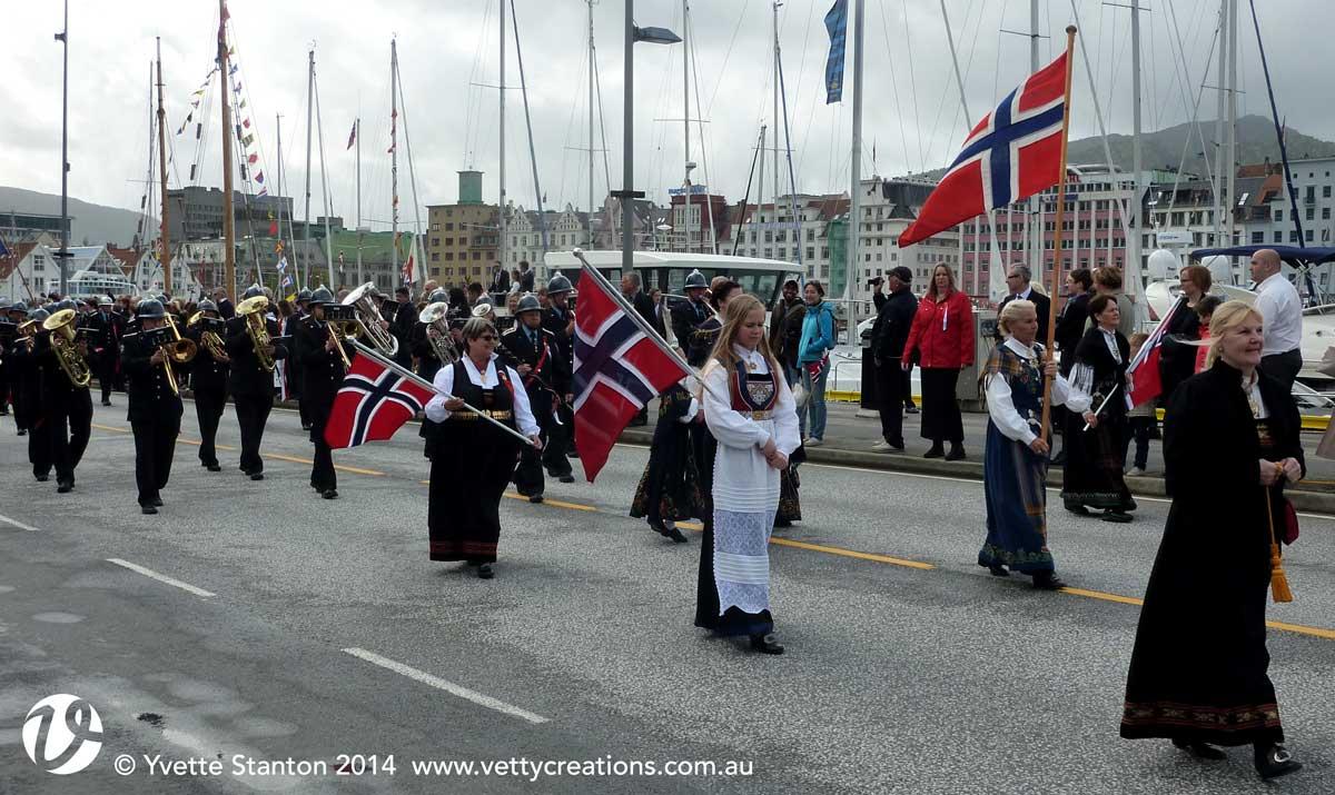 Syttende Mai in Bergen Norway