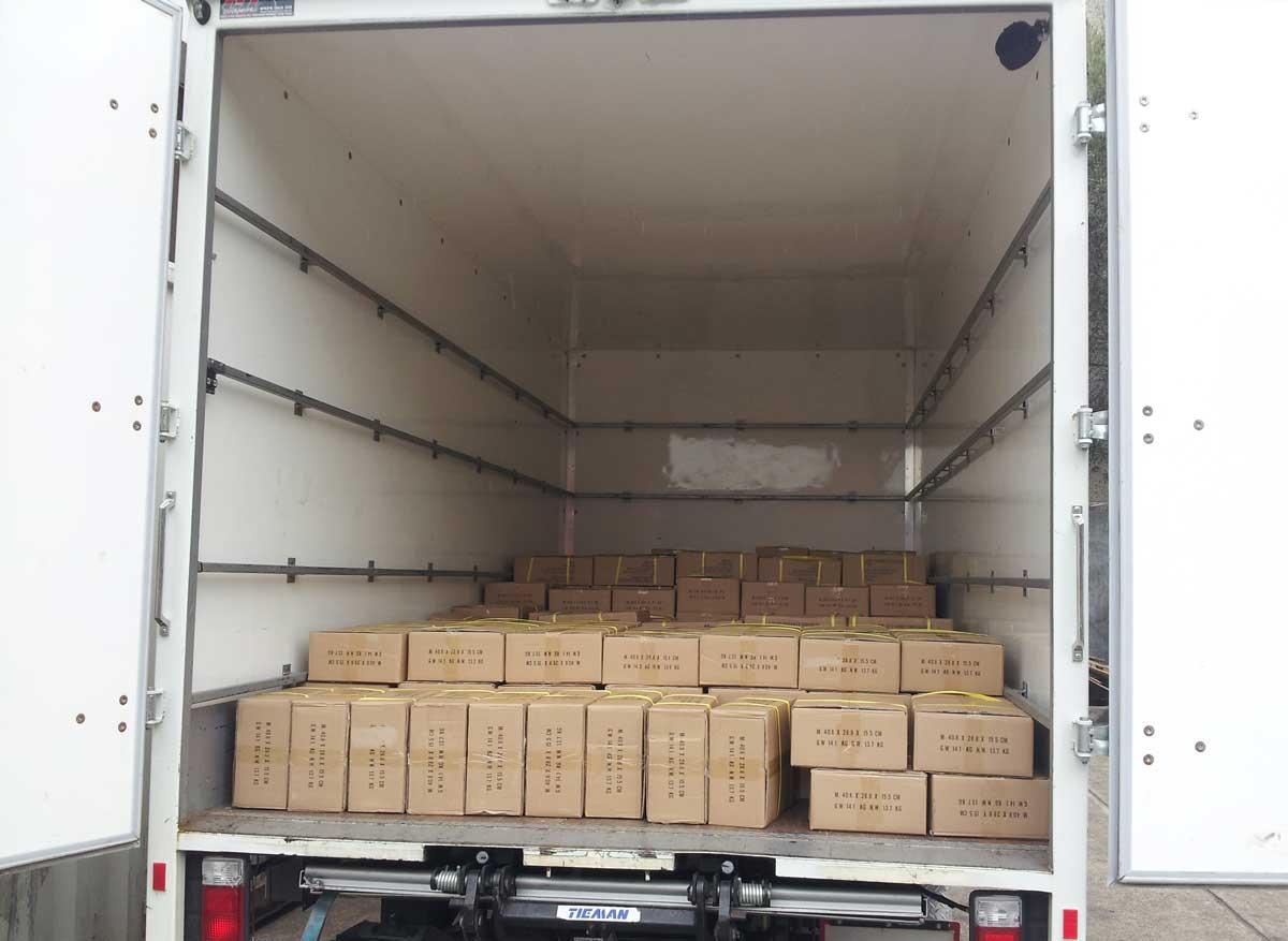 books in truck