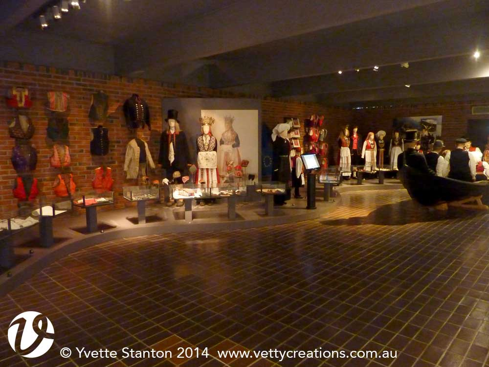 Bunad display at Hardanger Folkemuseum
