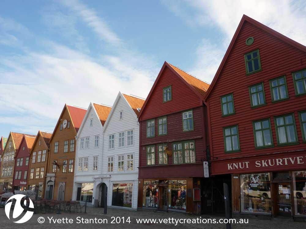 wonky Bryggen buildings