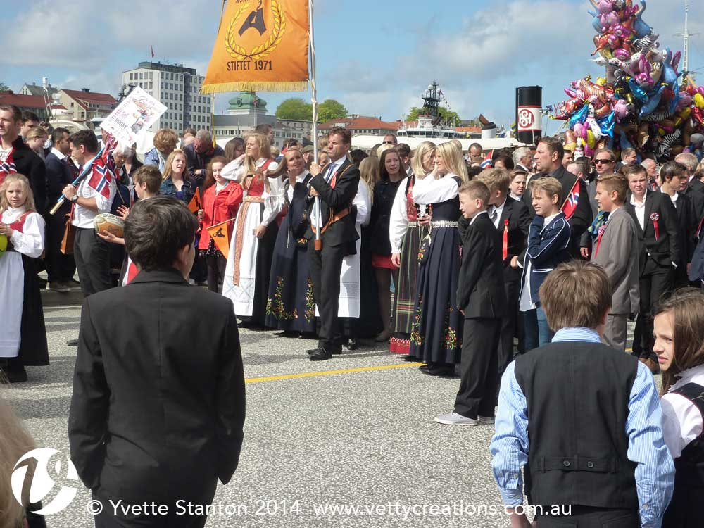 Parading in Bergen