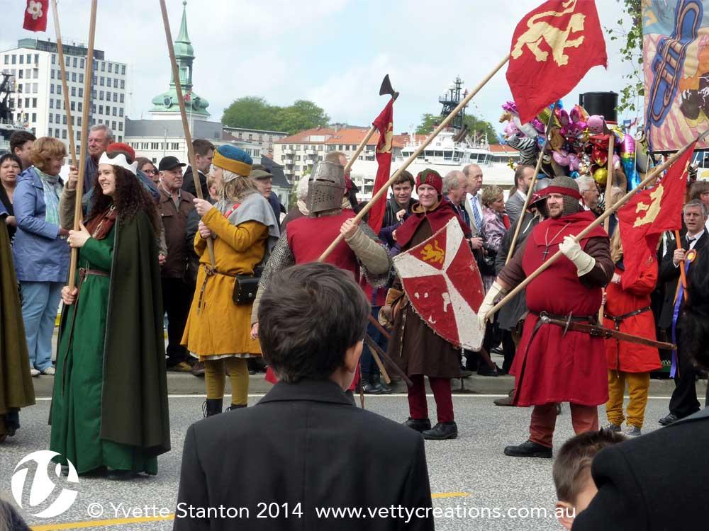 Re-enactors in the parade