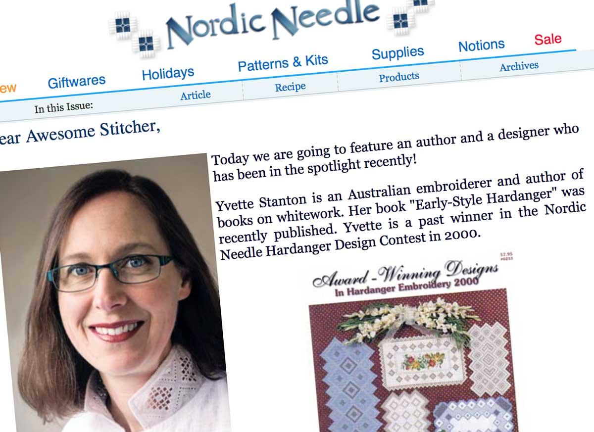 Nordic Needle profile of Yvette Stanton