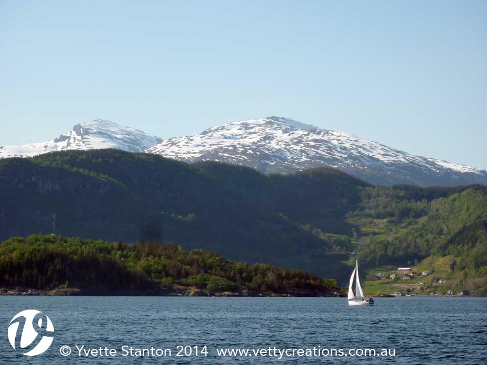 Sailing on Hardangerfjord