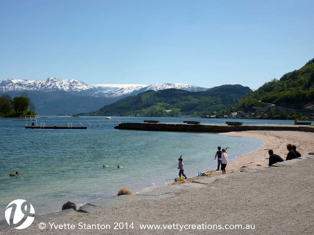 Summer time by the fjord (to me it was still quite cold...!)