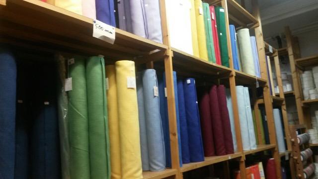 Rows of beautiful fabrics