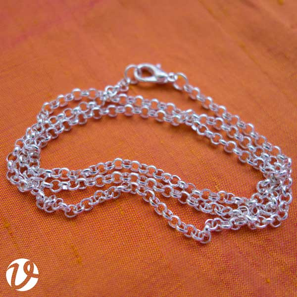 50 cm silver-plated chain