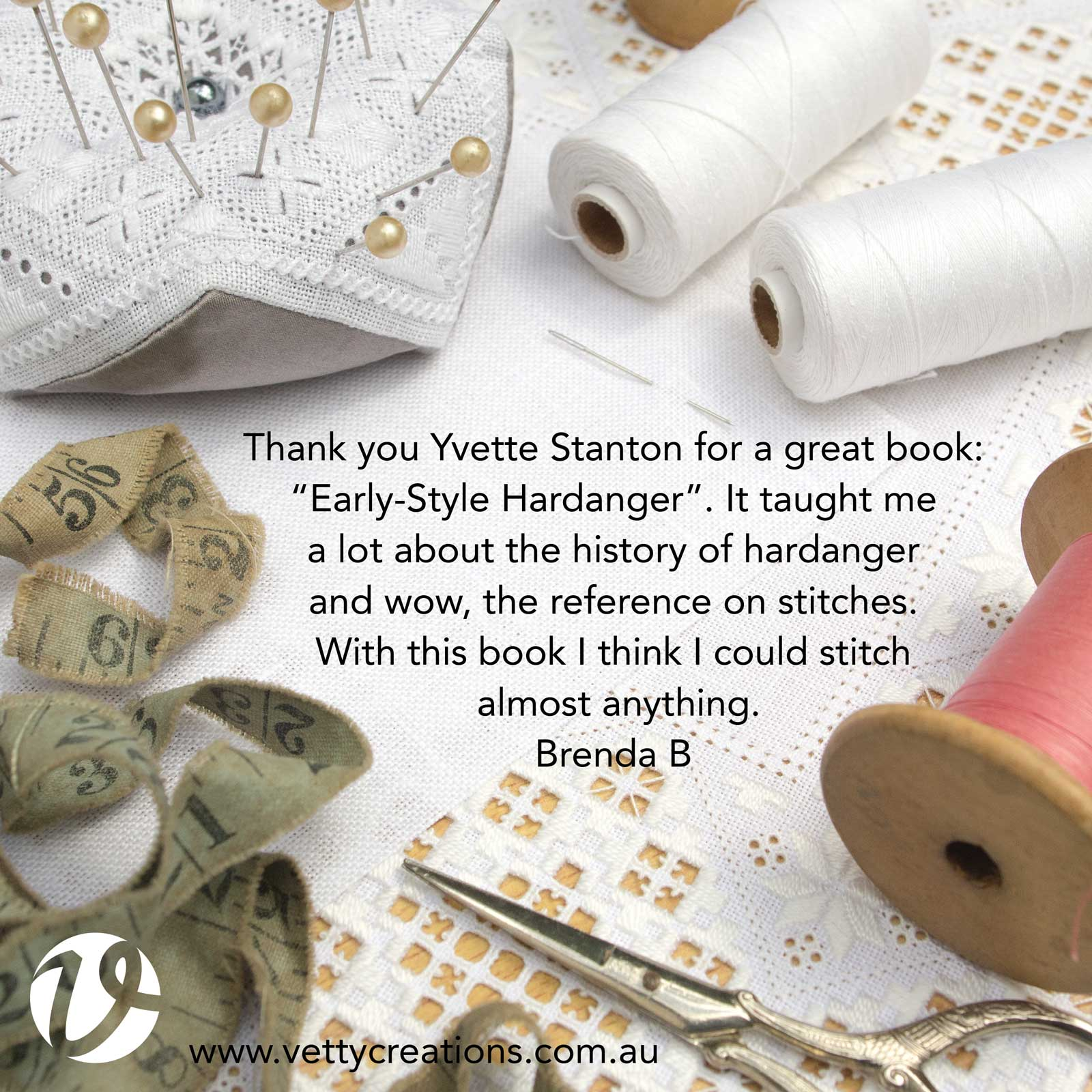 Thank you Yvette Stanton for a great book, Early-Style Hardanger
