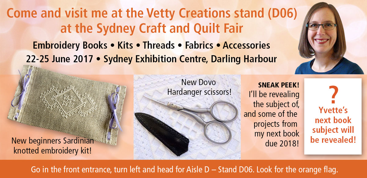 Come visit me at the Sydney Craft and Quilt Fair!