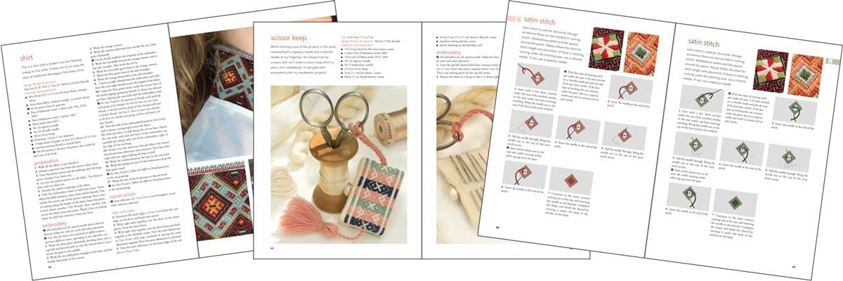 Spreads from Smoyg - Pattern Darning from Norway