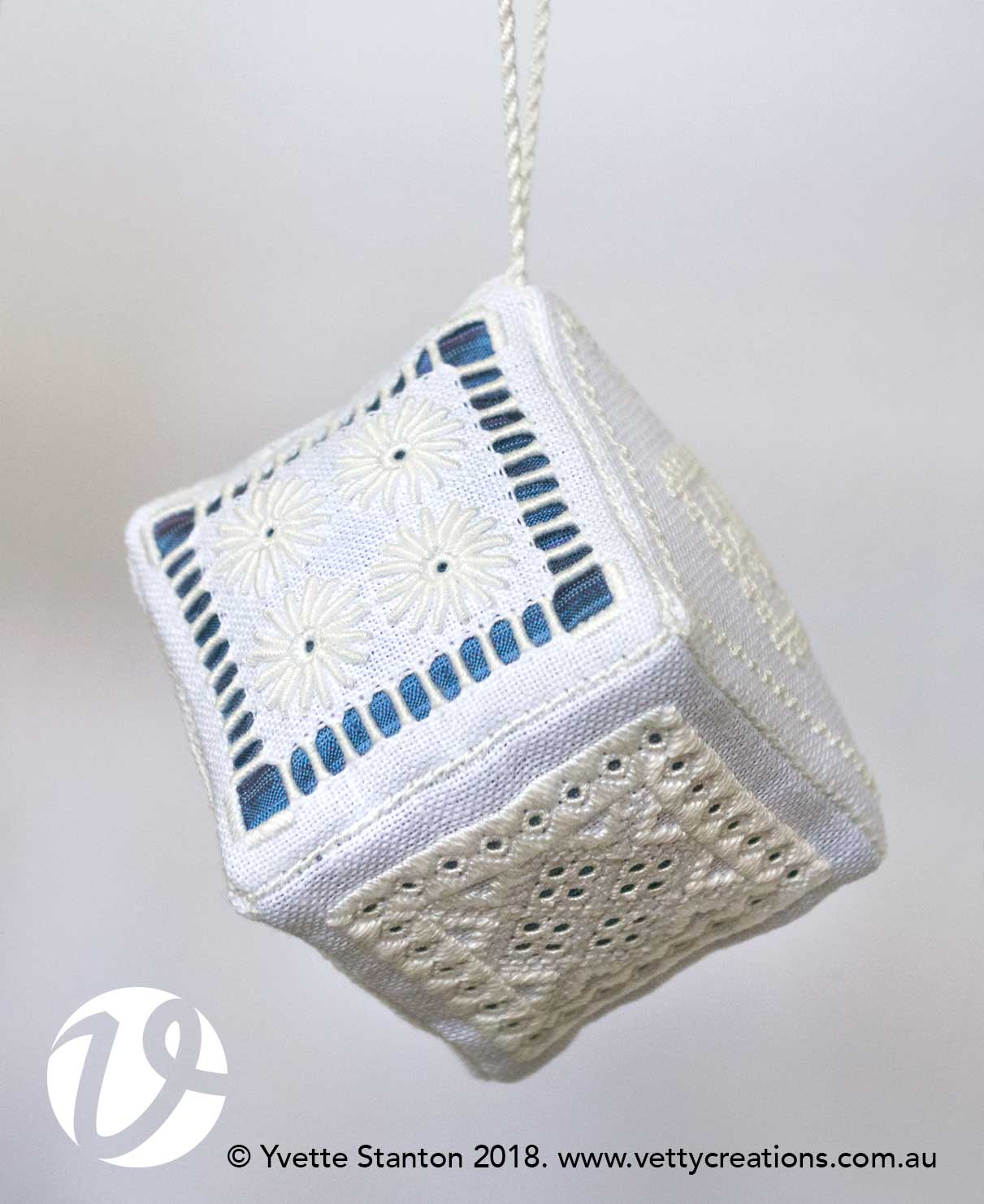 Whitework cube sampler with Yvette Stanton EGA 2019