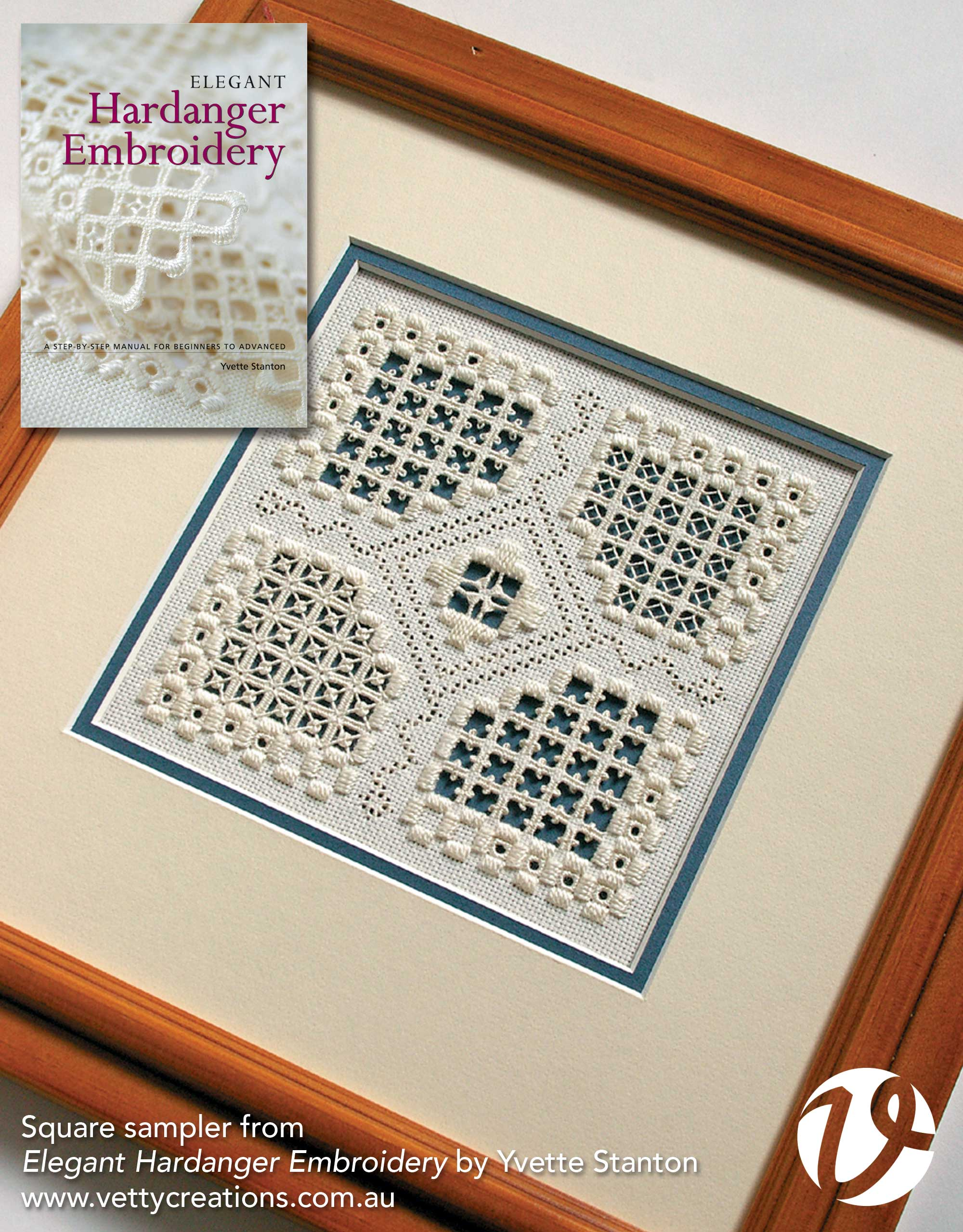 Square Sampler from Elegant Hardanger Embroidery