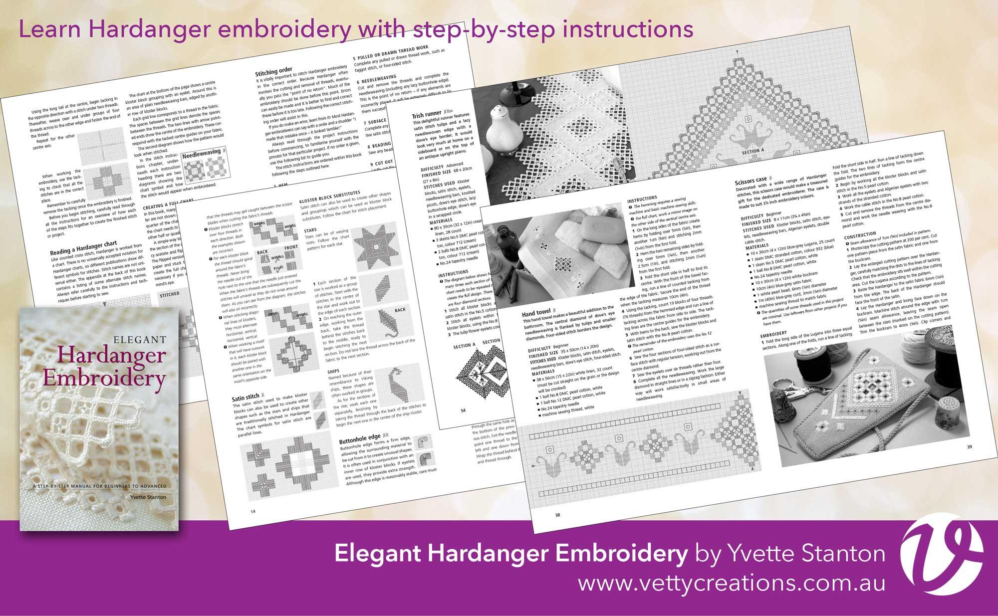 Elegant Hardanger Embroidery by Yvette Stanton