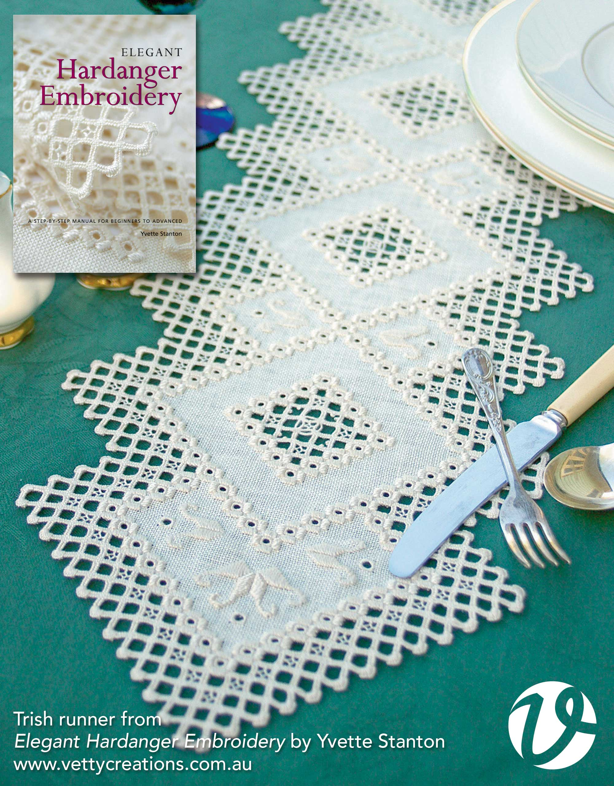 Trish Runner from Elegant Hardanger Embroidery