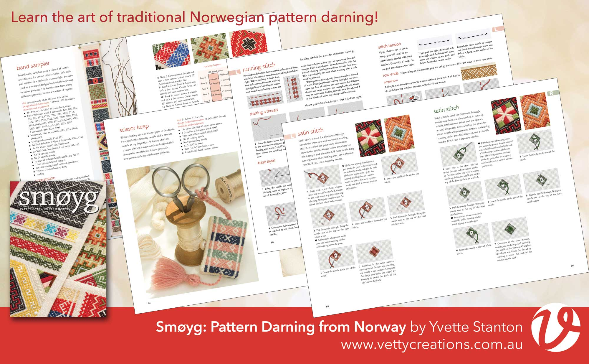 Smoyg Pattern Darning from Norway