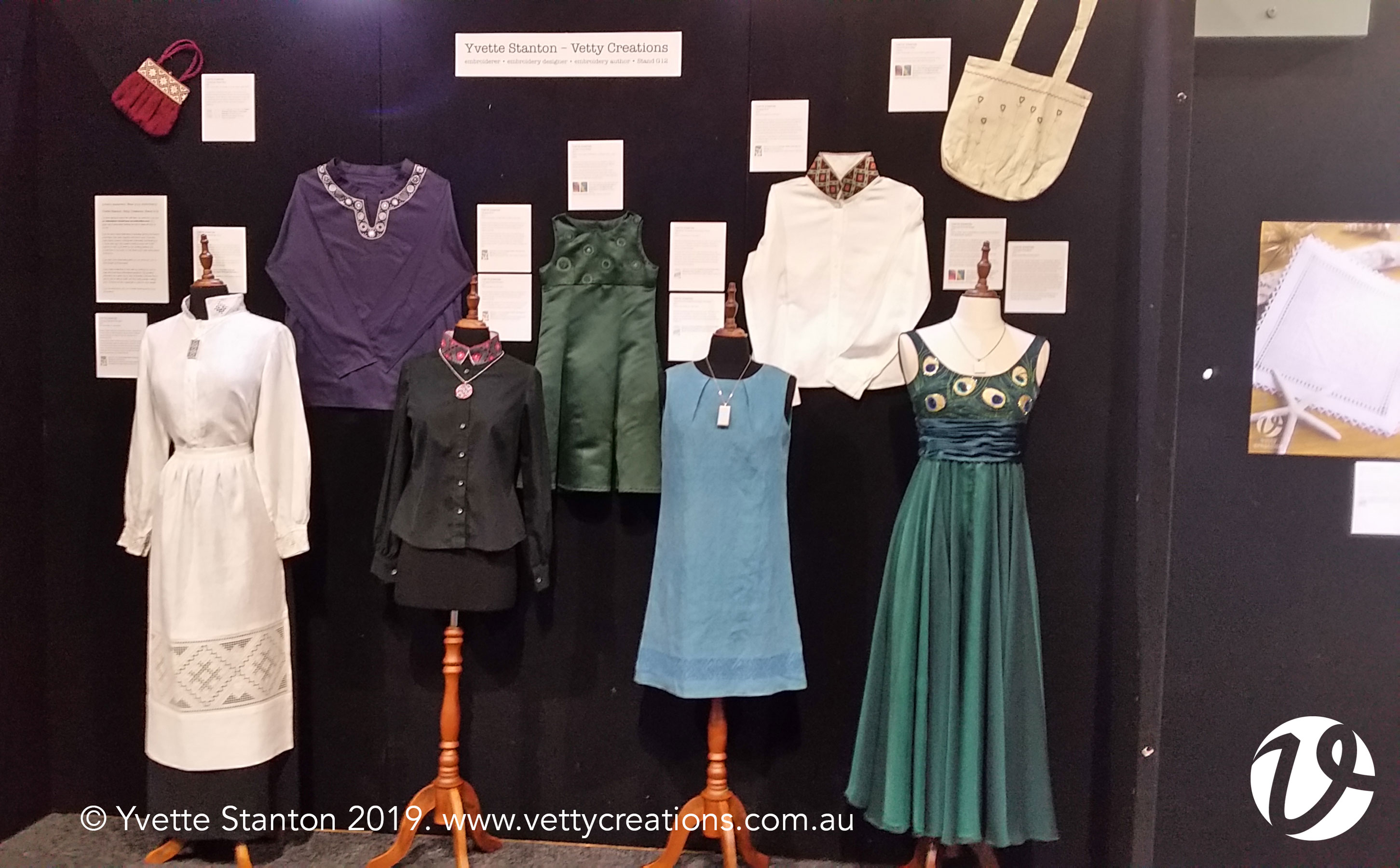 Embroidered clothing display at G11